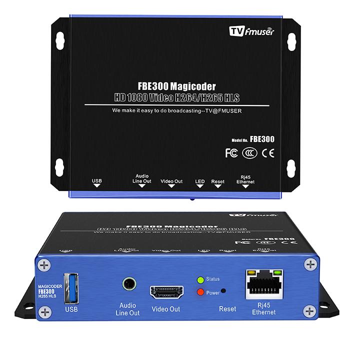 FMUSER FBE300 Տեսանյութերի հոսքային Magicoder IPTV հաղորդիչ