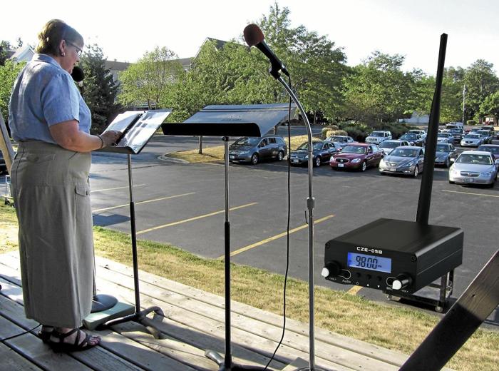 จะใช้เครื่องส่งสัญญาณ FM 0.5W สำหรับลานจอดรถของโบสถ์ได้อย่างไร