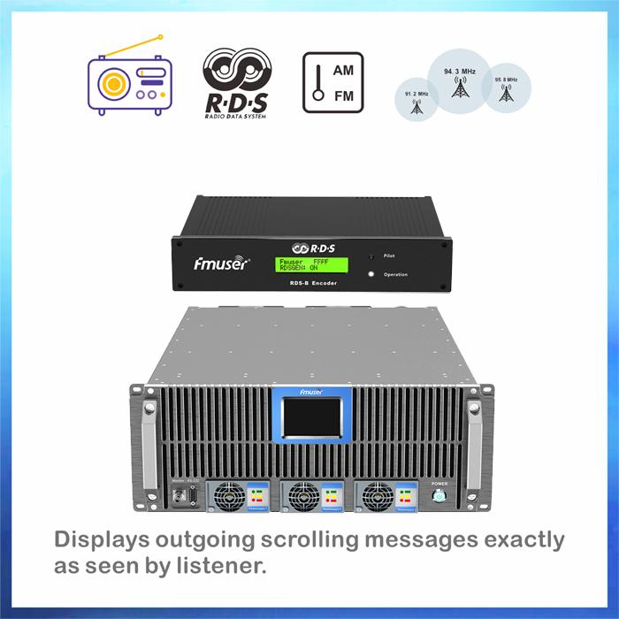 Transmetimi i sistemit të të dhënave radio transmetues FMUSER 5000W RDS FM (transmetues FM 5KW + encoder RDS)
