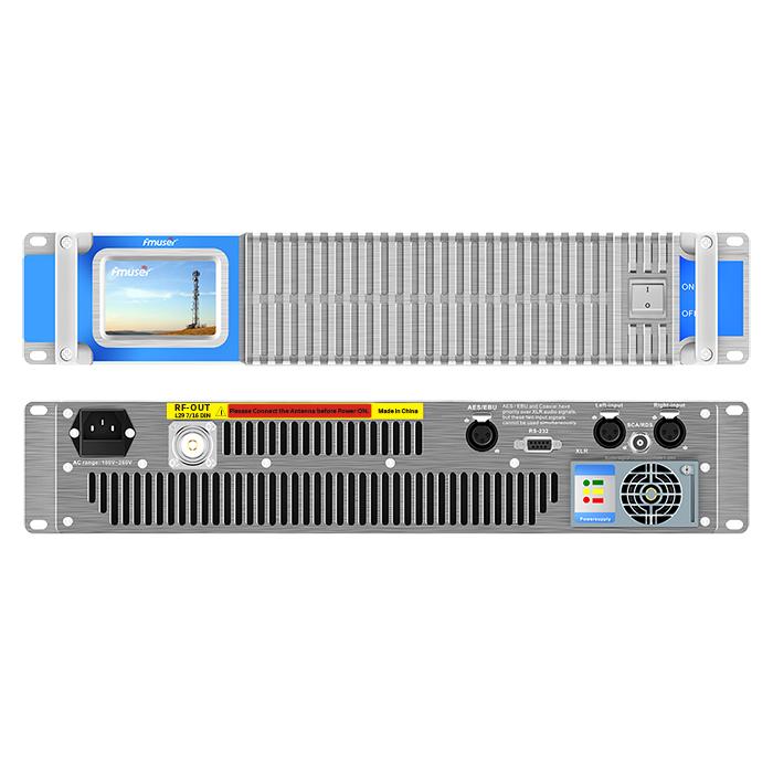 Transmissor FMUSER FSN-2000T 2000W 2KW Compacte de 2U de mida sòlida en estat sòlid amb pantalla tàctil