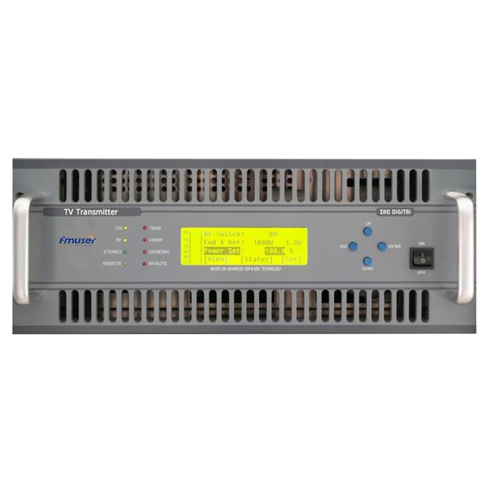 FMUSER FU-518A 1000W 1KW Transmissor analògic VHF UHF TV 4U Mida compacta per a canal d'emissores de televisió