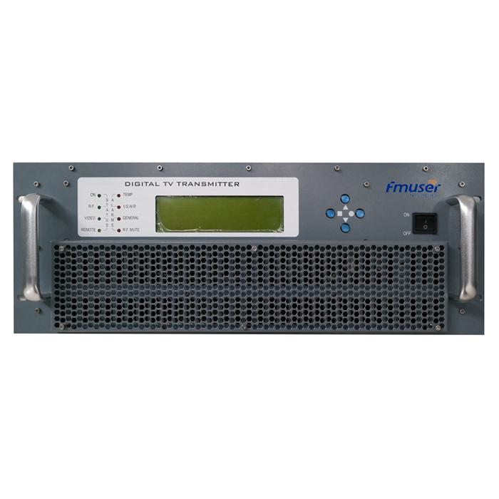 Emissor FMUSER FU-518A 2000W 2KW Analògic VHF UHF TV Transmissor de mida compacta per al canal d'emissores de televisió