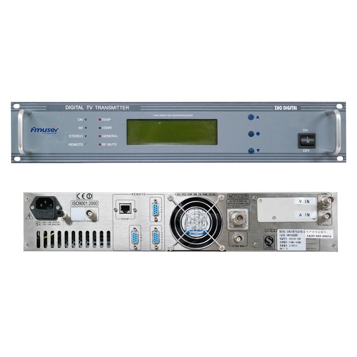 Transmissor de TV analògic VHF UHF FMUSER FU-518A 300W de mida compacta per al canal d'emissores de televisió