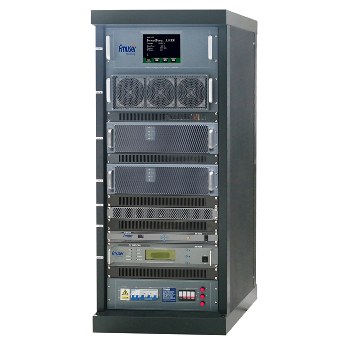 Transmissor de televisor analògic VHF UHF analògic VHF UHF FMUSER FU-518A 3000W 3KW per al canal de l'estació de televisió