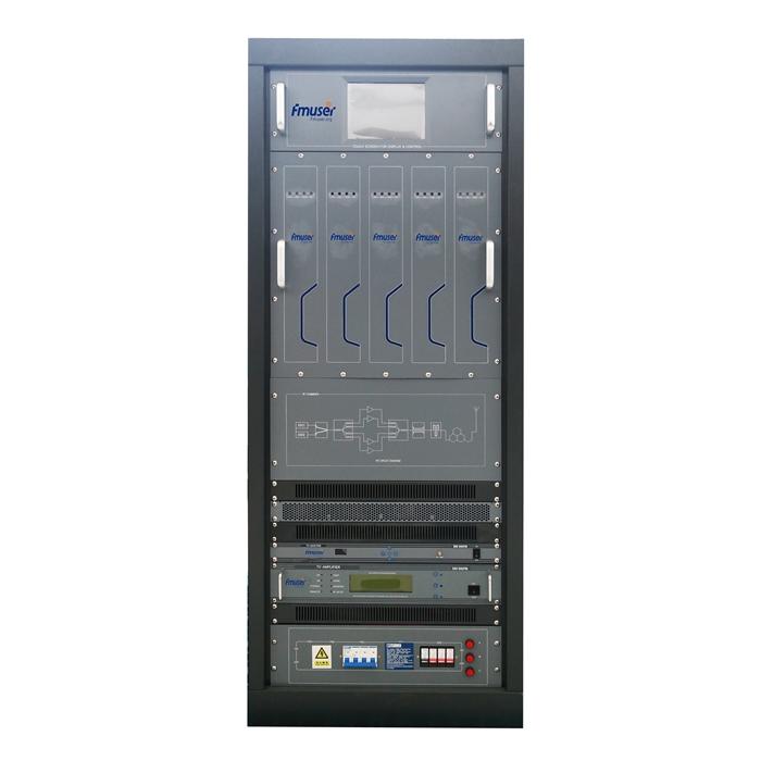 Emissor FMUSER FU-518A 5000W 5KW Analògic UHF VHF Transmissor de TV Endoll calent per a canal d'estació de televisió
