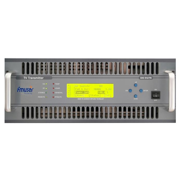 FMUSER FU-518A 500W Transmetues Analog VHF UHF TV 4U Madhësi Kompakte për Kanalin e Stacionit Televiziv
