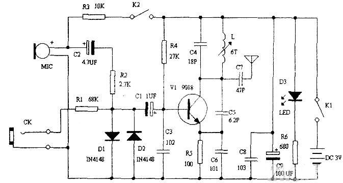 შეიმუშავეთ მარტივი FM უსადენო მიკროფონი