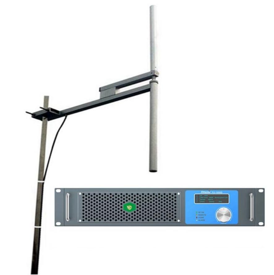 Nadajnik FMUSER 1000W DSP FM + antena dipolowa 2KW + kabel koncentryczny 30M Kompletny zestaw