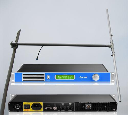Ensemble de diffusion radio FMUSER 200W (émetteur FM FU-200A + antenne dipôle + câble coaxial 20M)