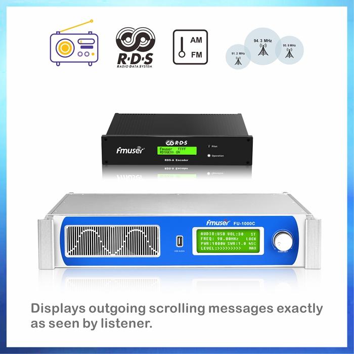 Shitet transmetues FMUSER RDS 1000 Watt FM për shitje + Antenë dipole + KIT i kabllos bosht të përbashkët 30M