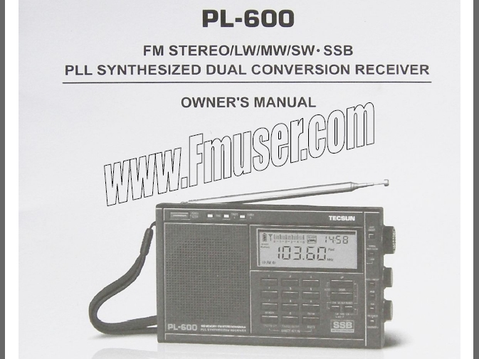 Naložite TECSUN PL-600 Radio English Manual PDF